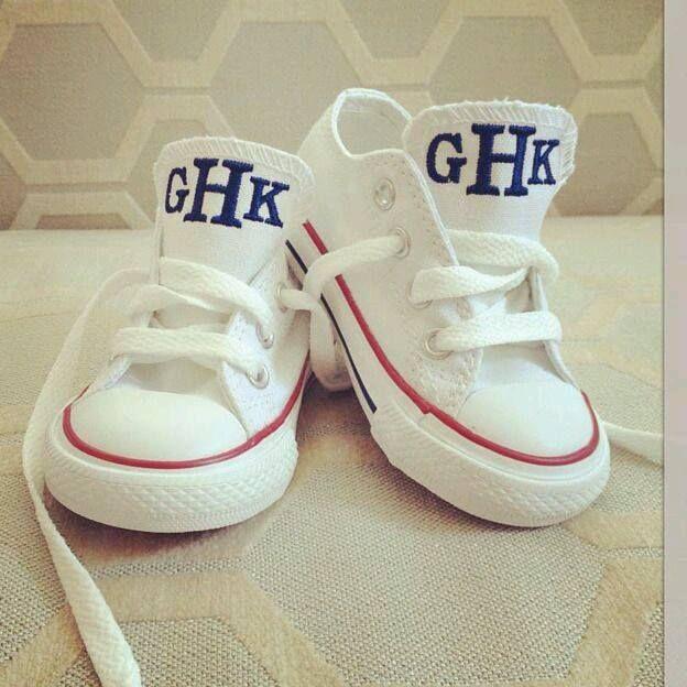 toddler tennis shoes monogrammed tongue...chuck taylors, converse
