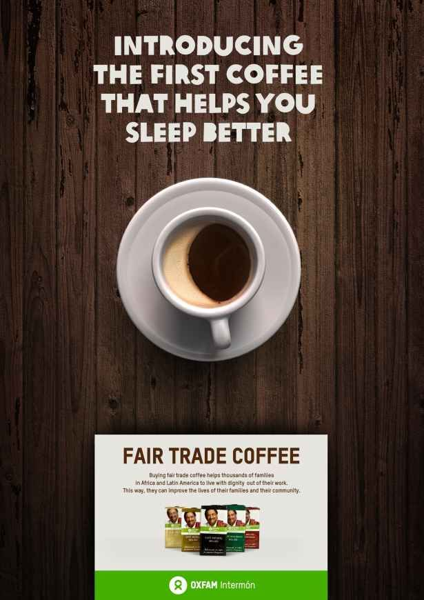 the first coffee that helps you sleep better #advertising fair trade coffee