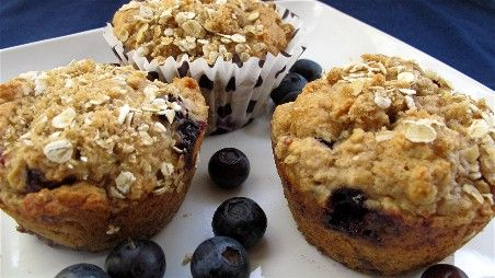 These Blueberry Raspberry Oatmeal Muffins have less than half the fat and a whole lot more fiber than traditional muffins.