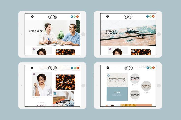 Modular design on Interbrand landing page