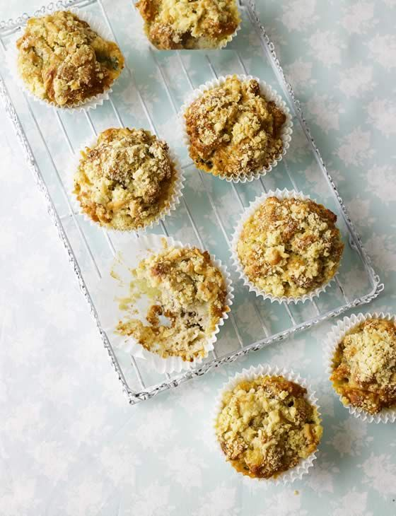 Pear, blue cheese and walnut muffins. A harmonious blend of flavours and are perfect to have at any time of the day.