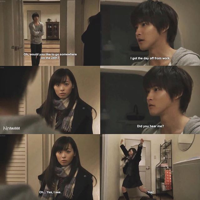 When you have to act all cool, but inside you're squealing.#Good Morning Call #japanese #drama