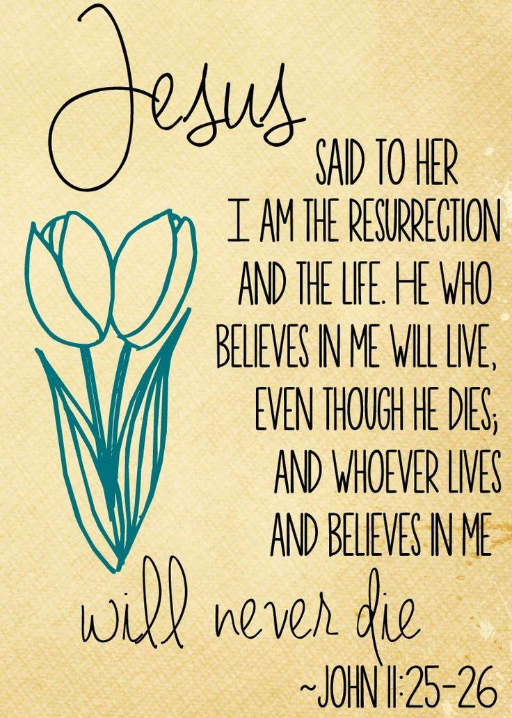 Homespun Elegance: Free Easter Printables John 11:25-26