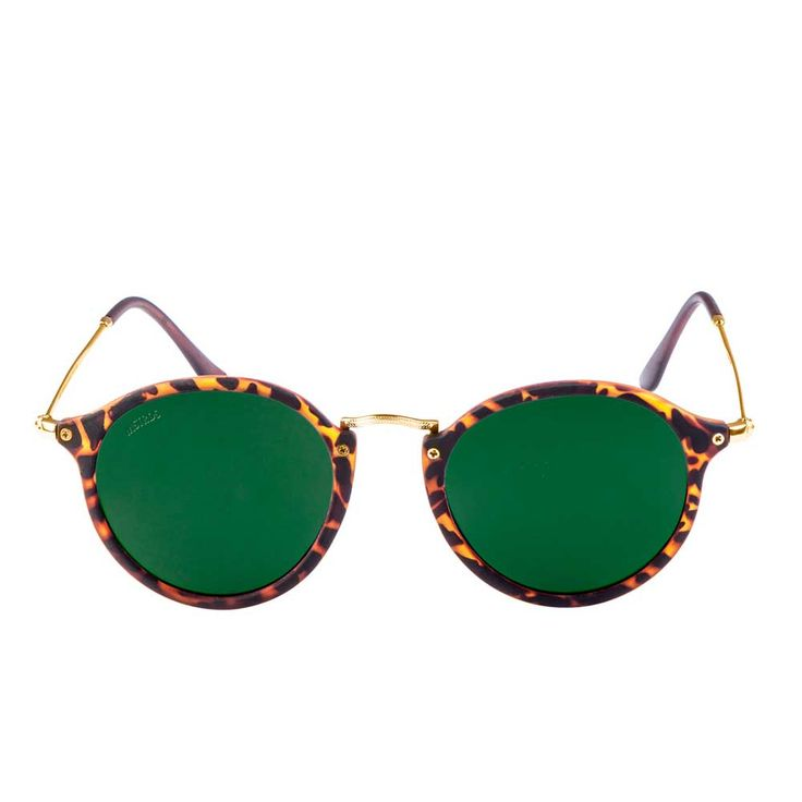 Urban Classics Spy ronde zonnebril havanna/groen - Urban Classics | At