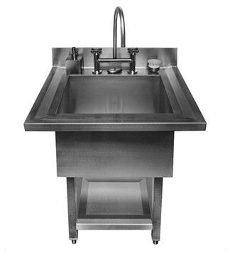 Pedestal Single Bowl Utility Sink - contemporary - utility tubs - other metro - Fixture Universe