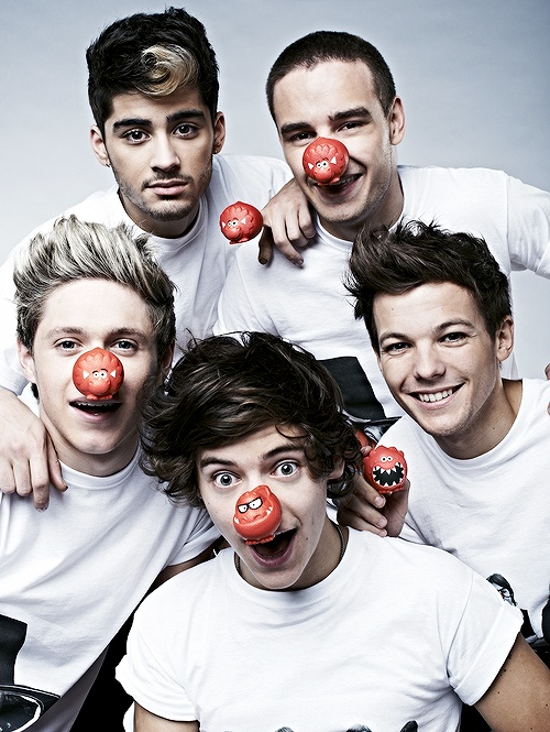 Fun! For all you #1D fans! #RedNoseDay