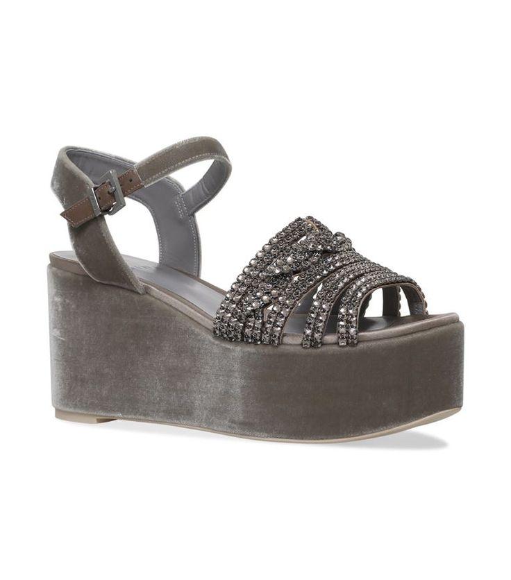 Shoes: Sandals Gina Luzon EmbellishedWedge Shoes