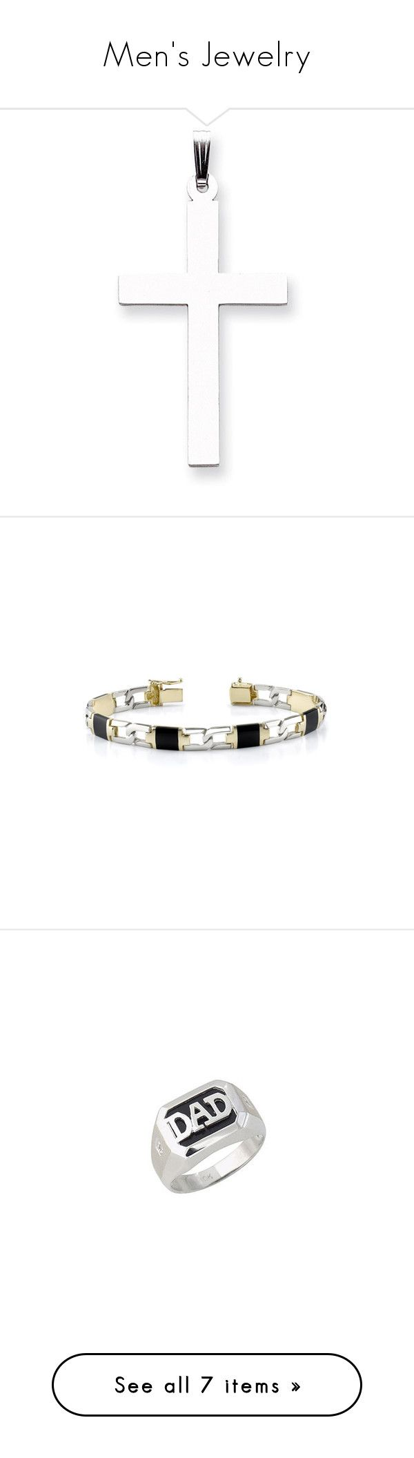"""""""Men's Jewelry"""" by applesofgoldjewelry ❤ liked on Polyvore featuring men's fashion, men's jewelry, men's necklaces, mens cross pendant necklace, mens watches jewelry, mens white gold necklace, mens necklaces, 14k gold mens necklace, men's bracelets and mens 14k gold bracelets"""