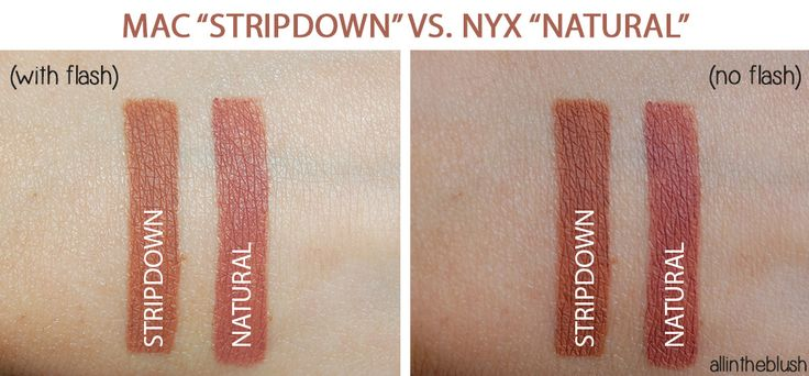 MAC Stripdown & NYX Natural Lipliner Swatches