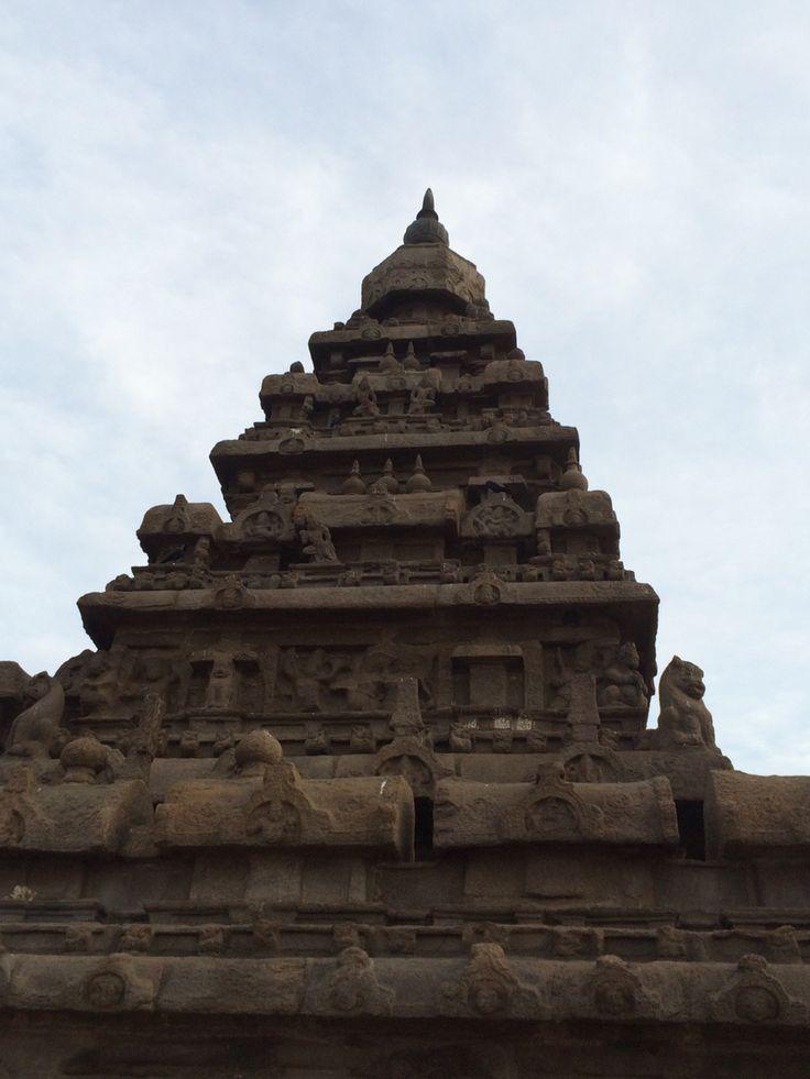 Gopurum at the Shore Temple in Mahabalipuram (மாமல்லபுரம்), Tamil Nadu. #india #southasia #travel #history #architecture #hindu #culture #unesco #coromandel