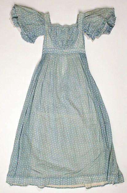 Dress Date: ca. 1845 Culture: British Medium: cotton Accession Number: 1986.30.3