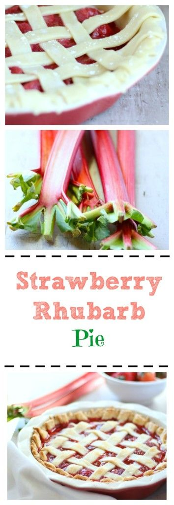 This Mom's favorite pie recipe is made 100% from scratch. This strawberry rhubarb pie is incredibly flavorful and easy to make! ribaswithlove.com