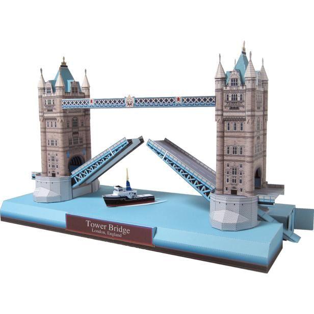 DIY - PRINTABLE - Tower Bridge, England,Architecture,Paper Craft,Europe,United Kingdom [England],sky blue,bridge,London,world heritage,building
