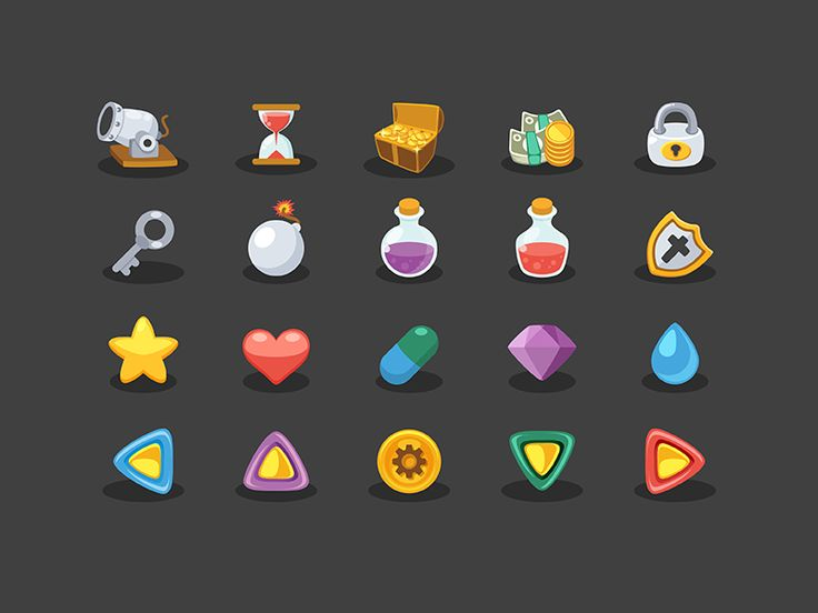 (FREE!!) Basic Game Elements Icons by Sunbzy