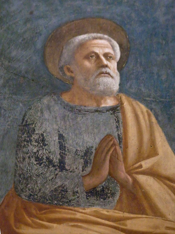 Brancacci Chapel - Florence. Masaccio - St. Peter Enthroned