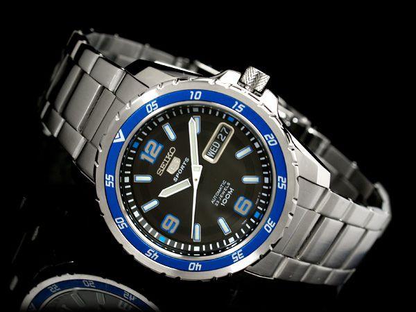 【楽天市場】【逆輸入SEIKO5】セイコー5 メンズ自動巻き腕時計 ブルーライン×ホワイトベゼル ブラックダイアル シルバーステンレスベルト SNZG71K1:セイコー時計専門店 スリーエス