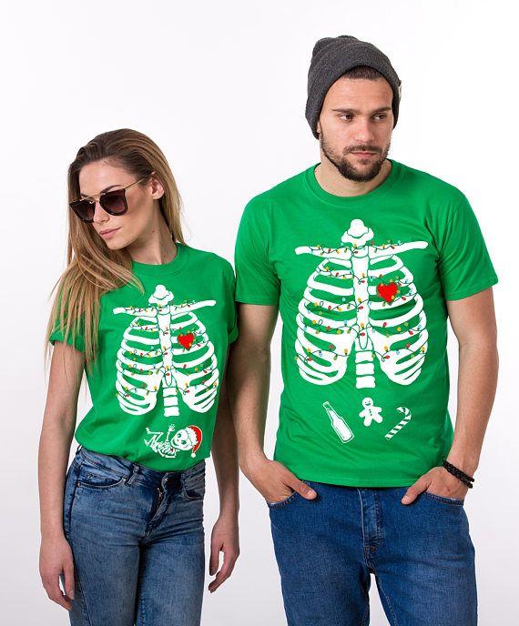 3619c7dd Christmas Maternity Shirt, Christmas Maternity, Pregnancy Shirt, Couple  Christmas Maternity, Skeleton Christmas Shirt, Price per item in 2019 | T- Shirts for ...
