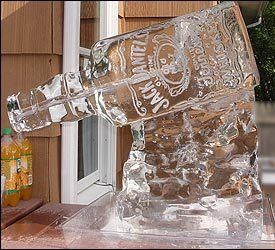 Jack Daniels Ice Luge. Events By Vento Designs. We Go Beyond Fundraising & Corporate Events...Complete & Month-Of Wedding Services! Visit Us: www.eventsbyventodesigns.com