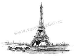 Výsledek obrázku pro eiffelova věž kresba