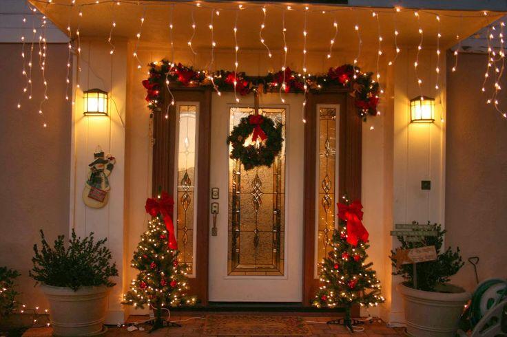 decoracion de puertas y ventanas en navidad en pinterest - Buscar con Google