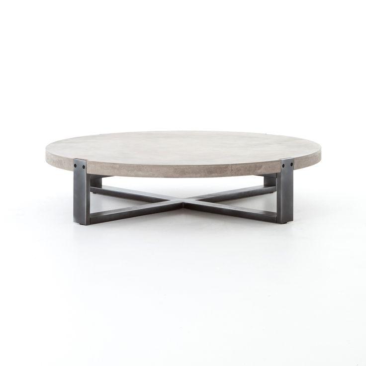 mercury round coffee table