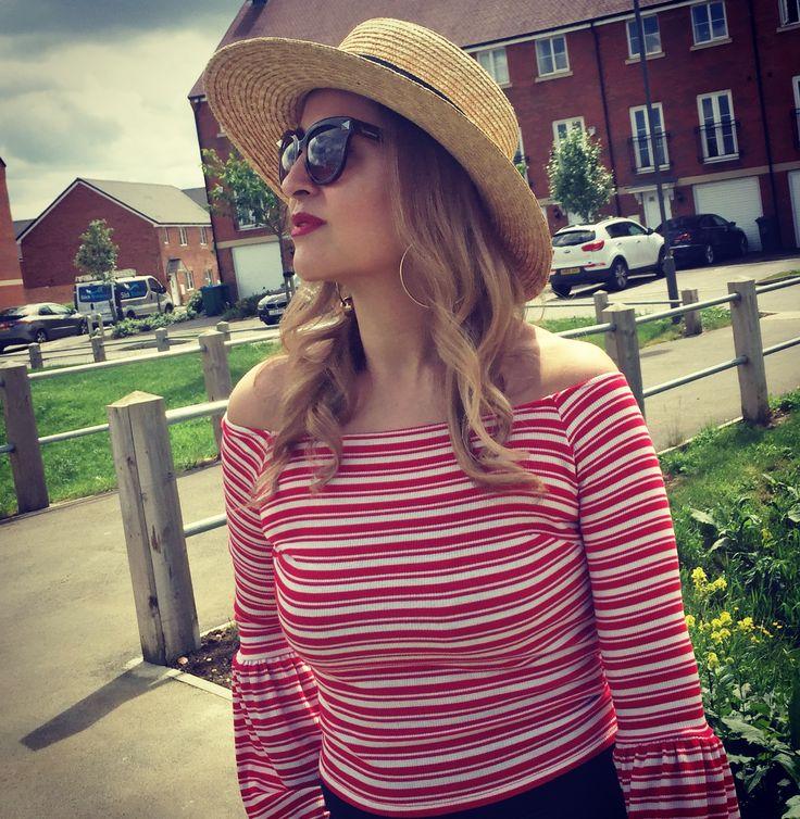 Boater hat / stripes