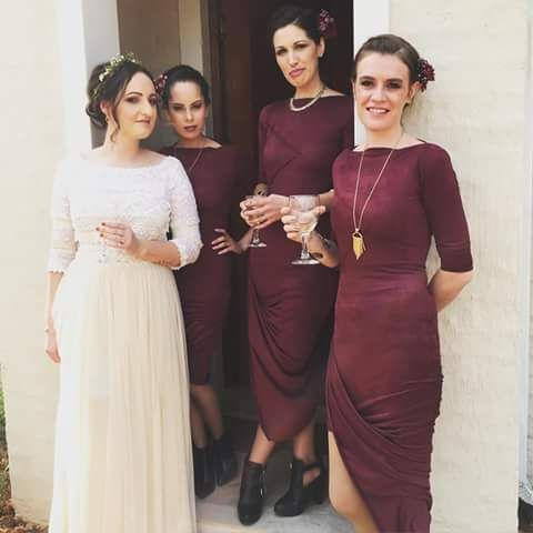 Sam's #Dimity #EcoBride gown of vintage silk & tulle with a vintage lace blouse. Www.dimity.co.za