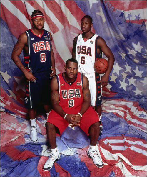 Carmelo Anthony, Lebron James and Dwyane Wade
