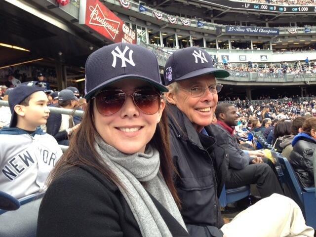 Lauren Graham and her dad Hey..her dad resembles mine and he was a big Yankees fan too. So am I.