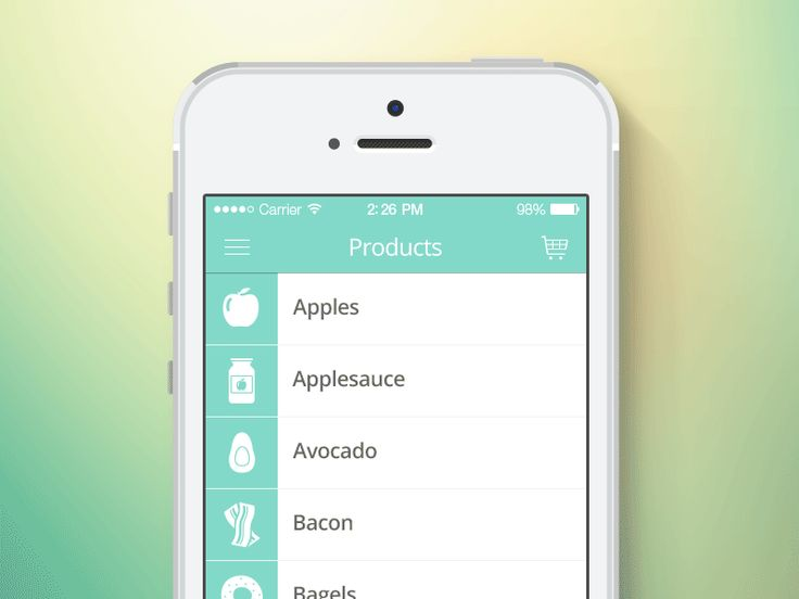 shopit iphone ios application ui products list