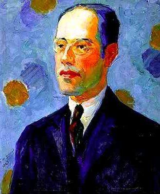 Portrait of the writer Mário de Andrade - 1922, by Tarsila do Amaral.