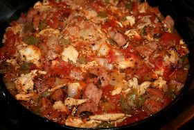 Deep South Dish: Creole Jambalaya with Chicken, Smoked Sausage and Shrimp