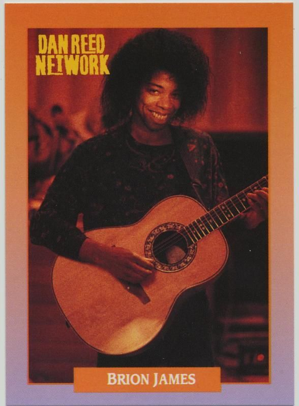 Brion James of Dan Reed Network - 1991 RockCards #221