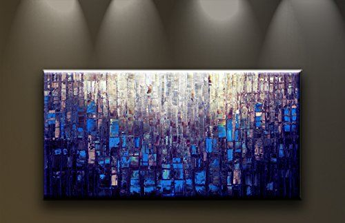 Amazon.com - Oil Painting Abstract Modern Contemporary Home Decor Art on Canvas HUGE Blue - Wall Art Canvas