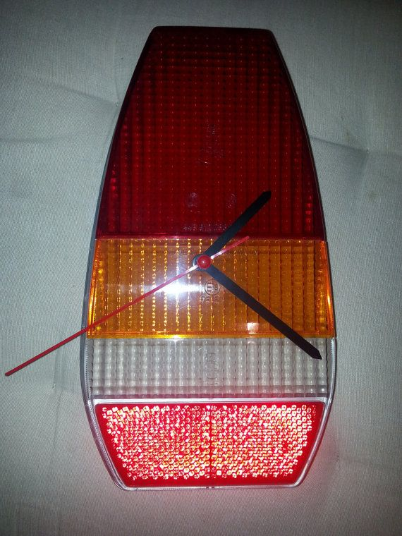 Another piece of art from former Czechoslovakia product!  This is wall lamp made from brand new rear lamp cover of former communistic car Skoda