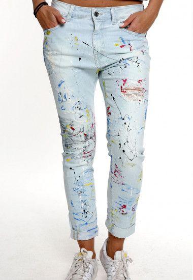 handmade light blue jeans