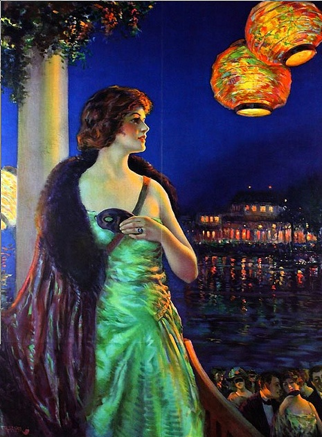 ☂ Paper Lanterns and Parasols ☂ Japonisme Art and Illustration - F.R. Harper