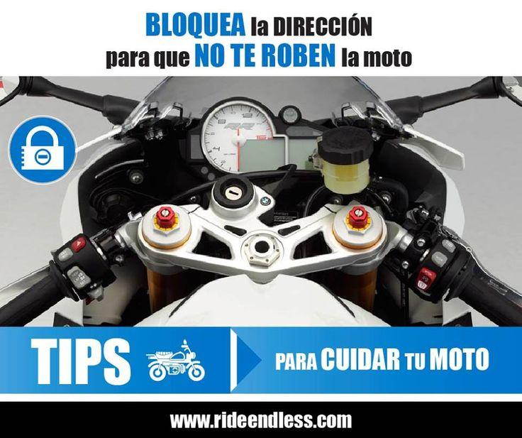 Para que no te roben la moto bloquea siempre la dirección. Cuando te bajes de tu moto bloquea la dirección antes de sacar la llave del contacto. Es fácil, rápido, y si no utilizas ningún antirrobo porque es una parada muy breve, evitarás que se lleven tu moto empujando.  #Tips #RideEndless #BMW #Motorrad #TipRideEndless