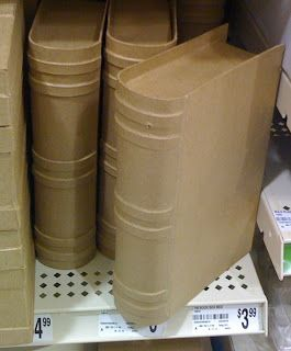 I love all the unpainted stuff you can find these days... these cardboard books would be perfect for a Book Club or Harry Potter party!  Found: Michael's Craft Store Section: Unpainted Price: $3.99