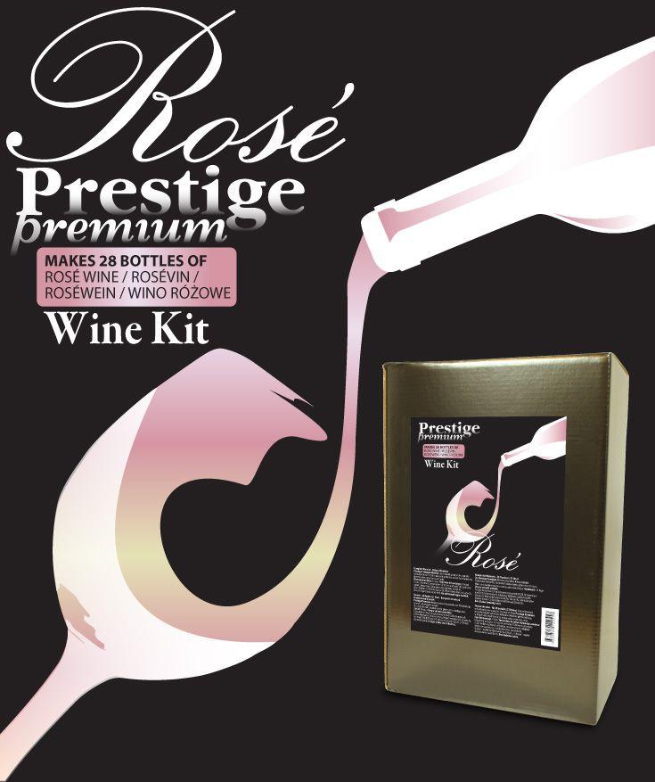 Prestige Premium 7KG Rosevin vinsats Premium kvalitet vinsats på sortrena druvor. 6,9 kg druvkoncentrat i praktisk 5L plastdunk. Komplett med ingredienser - endast vatten behöver tillsättas.