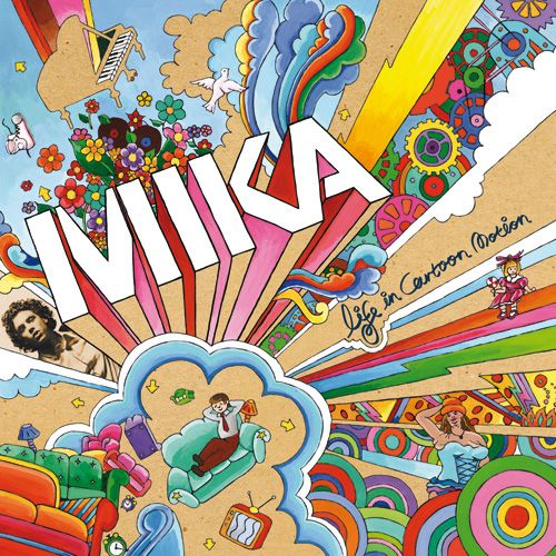 Mika - Life in Cartoon Motion - An explosively colorful and fun album. Nothing else like it. A lot of fun to listen to.