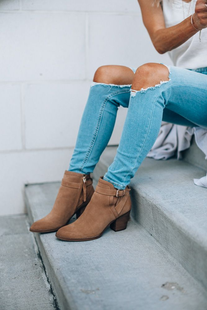 18425e5ee678c vince cardigan BP lace camisole Free people jeans sam edelman maurine  booties nordstrom anniversary sale outfit