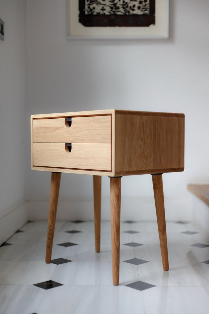 Mid Century scandinave Side Table Chevet Un