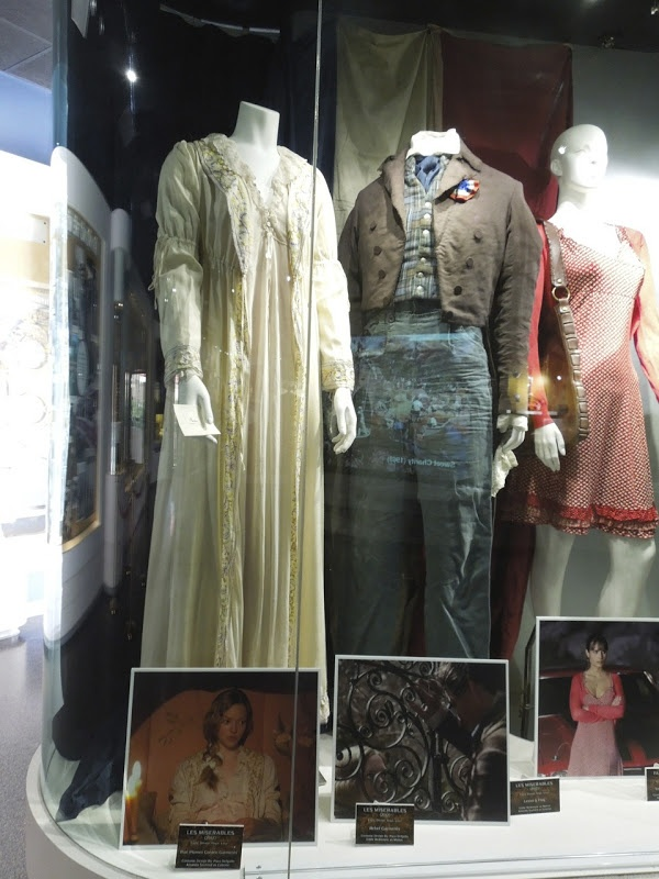 Amanda Seyfried and Eddie Redmayne Les Misérables movie costumes on display...