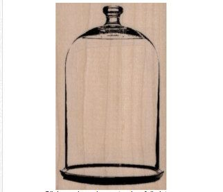 rubber stamp bell jar large glass jar victorian stamping craft supplies anatomie aufkleber - Large Glass Jars