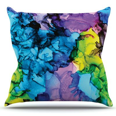 East Urban Home Mermaids by Claire Day Outdoor Throw Pillow