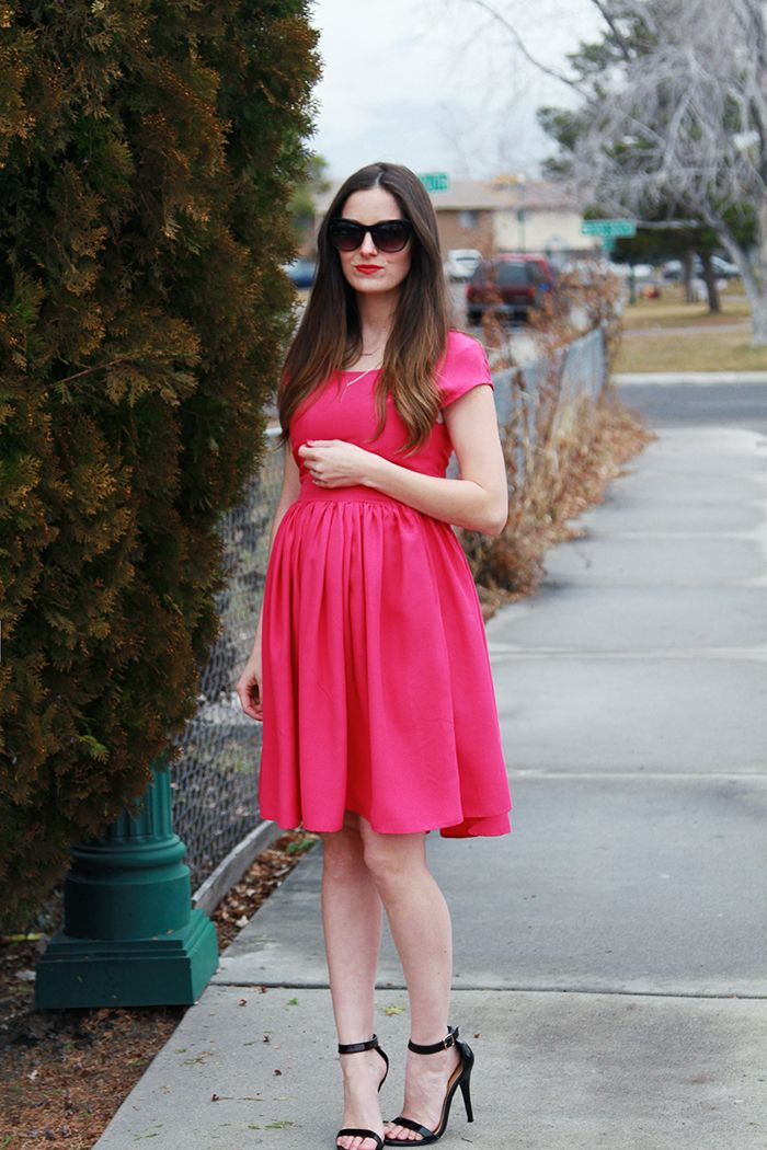 Perfect Valentine's day date dress! Not just the color but the fit! Very flattering and feminine. I made this before I was pregnant and decided to take out the top to make it fit my belly. Yo…