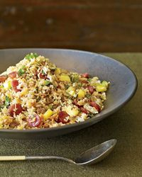 Pork & Pineapple Fried Rice - I left out the ground pork and added extra chinese sausage - Terrific - You'll crave this rice
