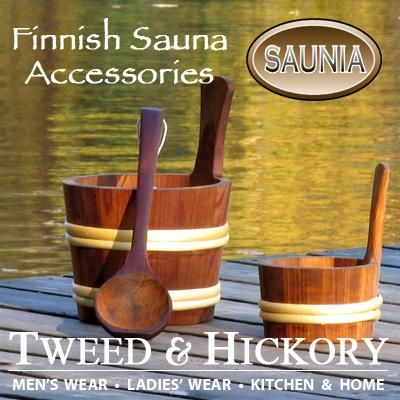Harvia & Saunia made in Finalnd Sauna Gear: a nice barrel-y basket-ish container like this should go somewhere in the bathroom.