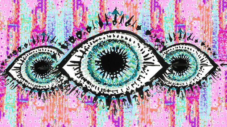 Gouache eyes